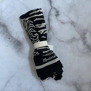 Madewell black and white classic square bandanna